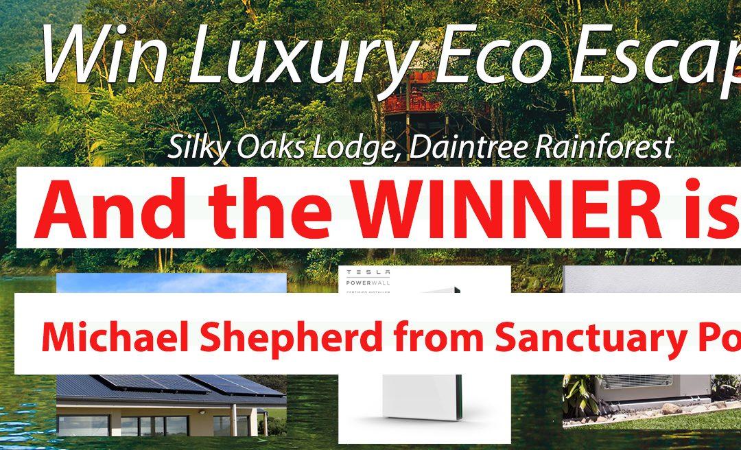 Luxury Eco Escape Winner Announced